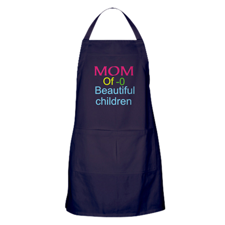 Mother Of ( Personalize number ) Chil Apron (dark)