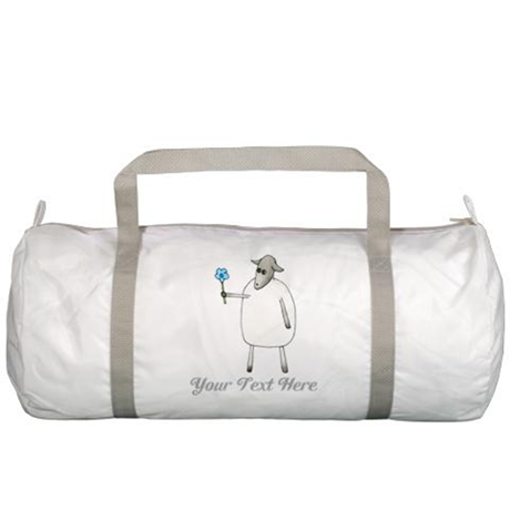 Sheep and Custom Text. Gym Bag