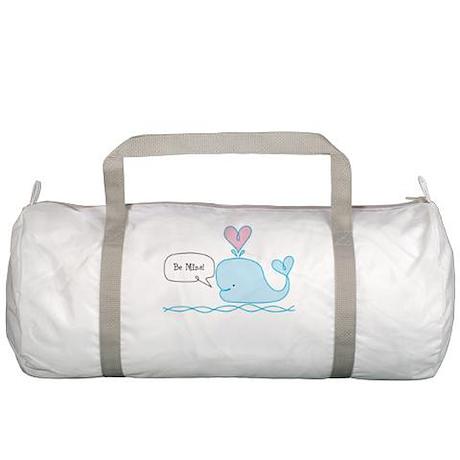Cute Whale Love Gym Bag