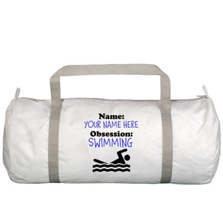 Custom Swimming Obsession Gym Bag