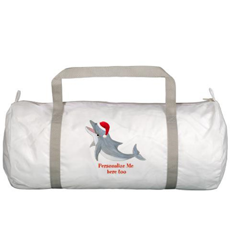 Personalized Christmas Dolphin Gym Bag
