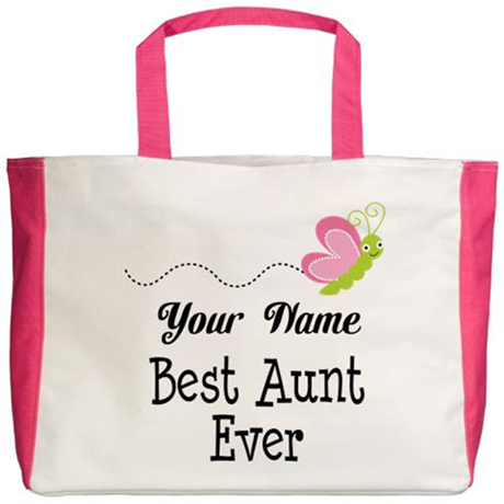 Personalized Best Aunt Beach Tote
