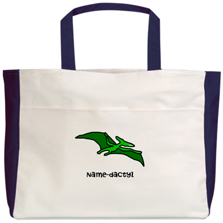 Name your own Pterodactyl! Beach Tote