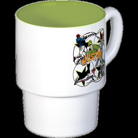 Custom Baseball Name Stackable Mug