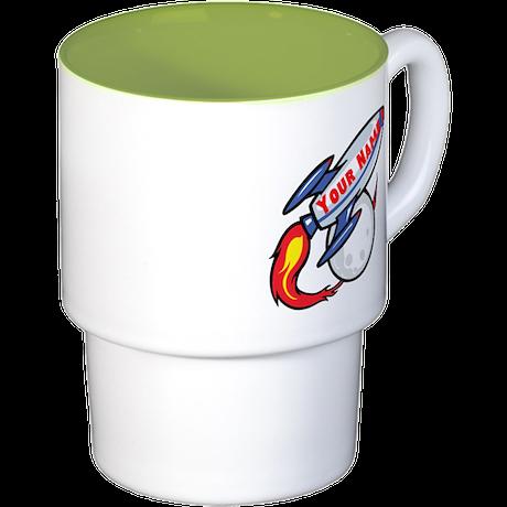Personalized rocket Stackable Mug