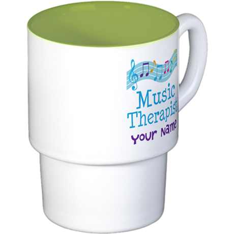 Personalized Music Therapist Stackable Mug Set (4