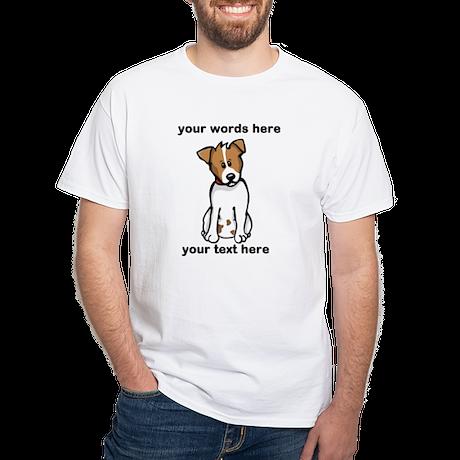 Jack Russell - Custom White T-Shirt