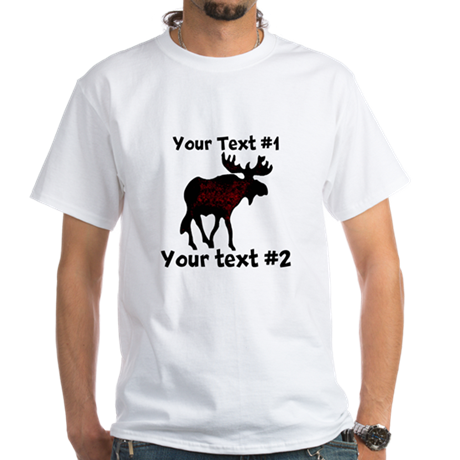 Customizeable Moose White T-Shirt