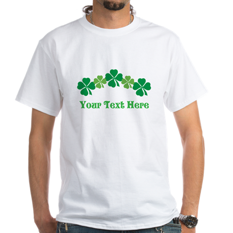 Irish St Patricks Personalized White T-Shirt