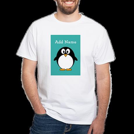 Modern Penguin Teal T-Shirt