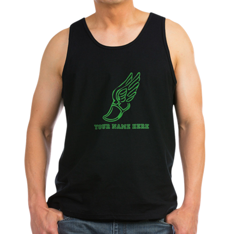Custom Green Running Shoe With Wings Tank Top