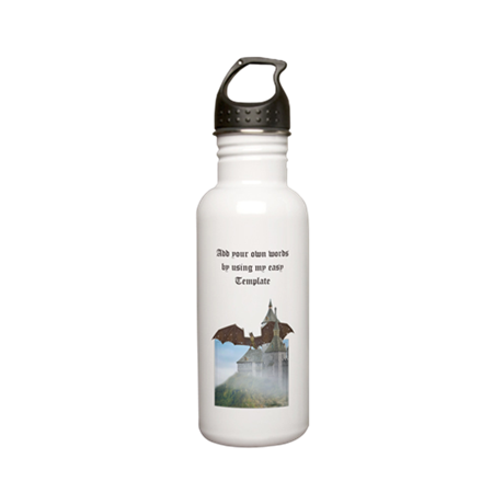 Dragon Castle Stainless Water Bottle 0.6L