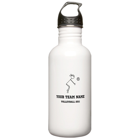 Customizable Volleyball Girl Stainless Water Bottl
