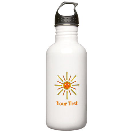 Summer Sun with Text. Stainless Water Bottle 1.0L