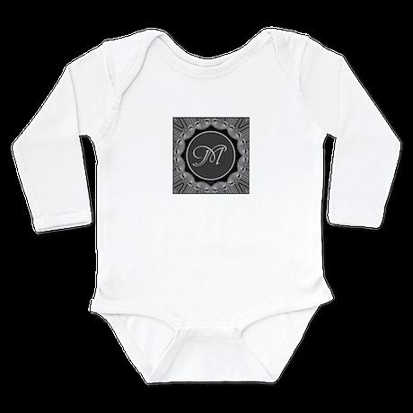 Luna Lace Monogram Long Sleeve Infant Bodysuit