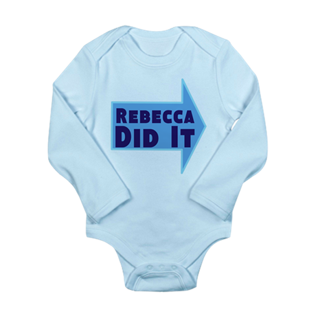 Personalized She Did It Long Sleeve Infant Bodysui