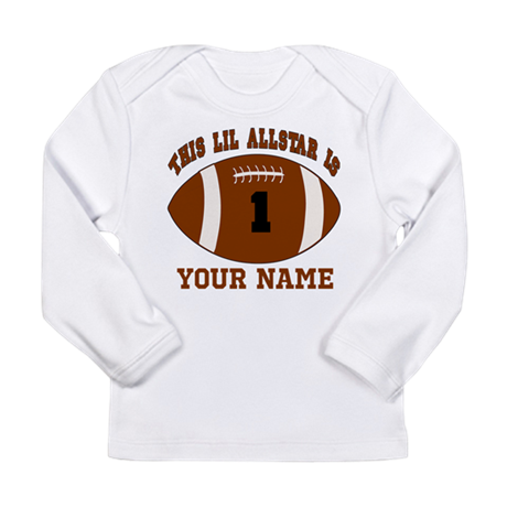 1st birthday allstar football Long Sleeve Infant T