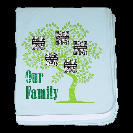QR Family Tree (5) baby blanket