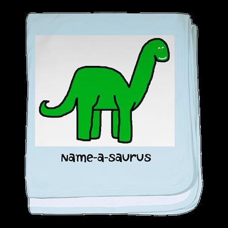 Name your own Brachiosaurus! baby blanket