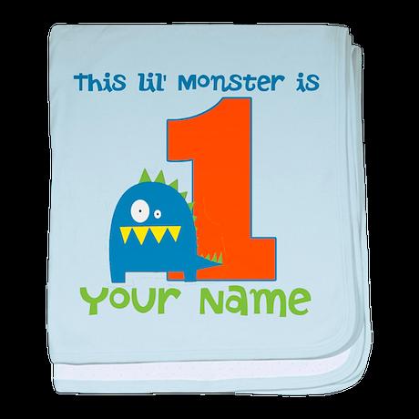 First Birthday Monster baby blanket