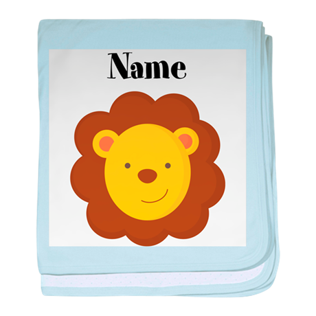Personalized Lion baby blanket