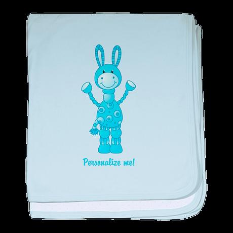 Personalize me! Blue Donkey baby blanket