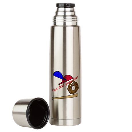 Personalized Baseball Gear Large Thermos Bottle