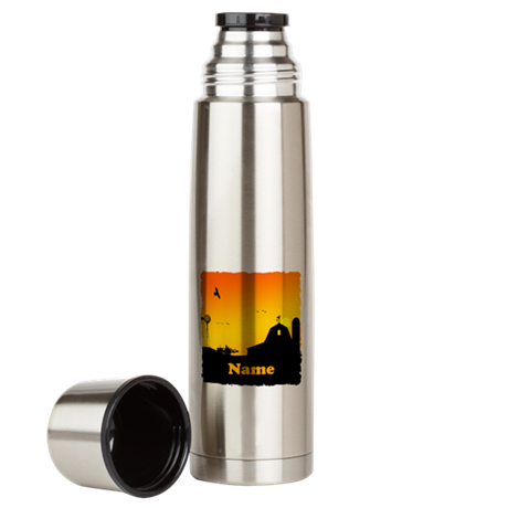 Sunrise at the Farm Large Thermos Bottle