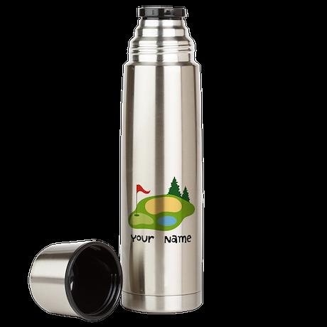 Personalized Golfing Large Thermos Bottle