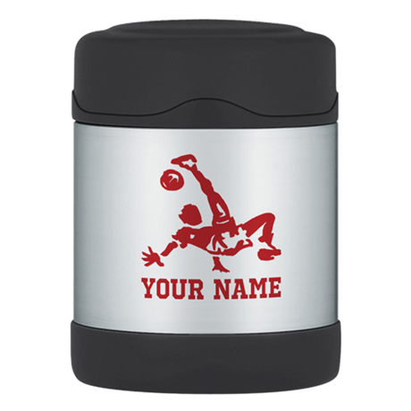 Personalized Soccer Thermos Food Jar