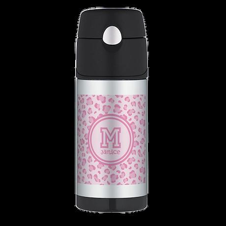 Pink Monogram Thermos® Bottle (12oz)