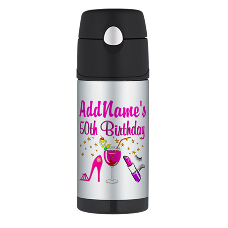 GORGEOUS 50TH Thermos Bottle (12oz)