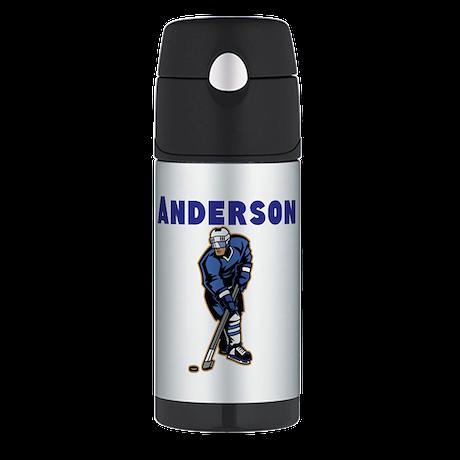 Personalized Hockey Thermos Bottle (12oz)