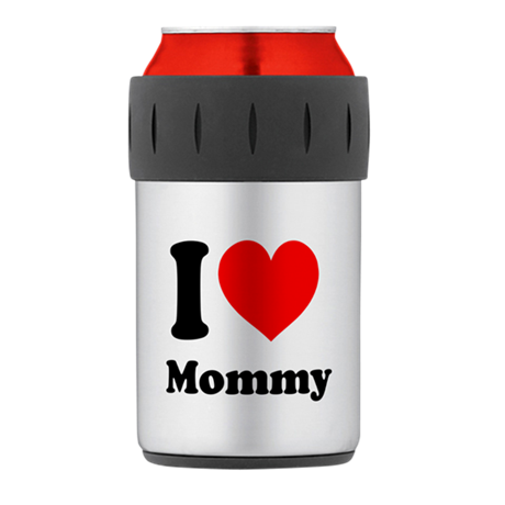 I Heart Mommy Thermos Can Cooler