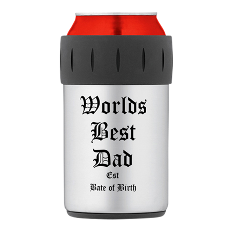 Worlds Best Dad Thermos Can Cooler