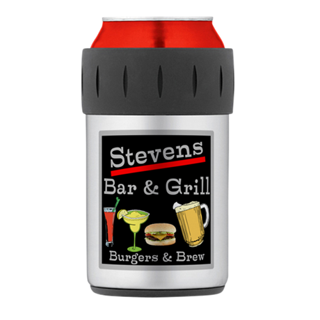Personalized Bar and Grill Thermos Can Cooler