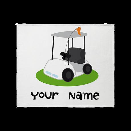 Golf Cart Gift For Golfer Throw Blanket