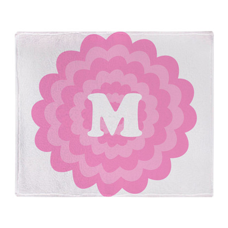 Your Letter on Pink Flower. Throw Blanket