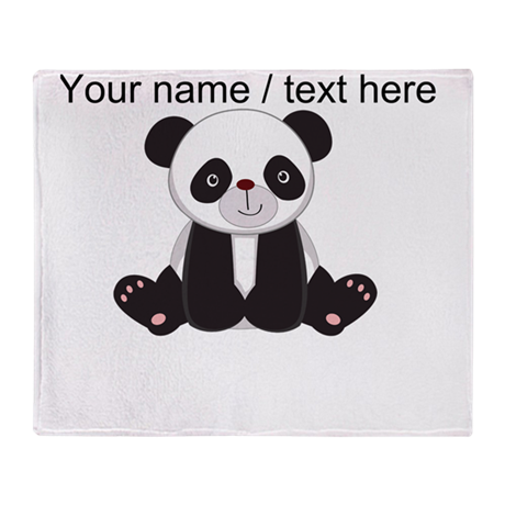 Custom Cute Panda Throw Blanket
