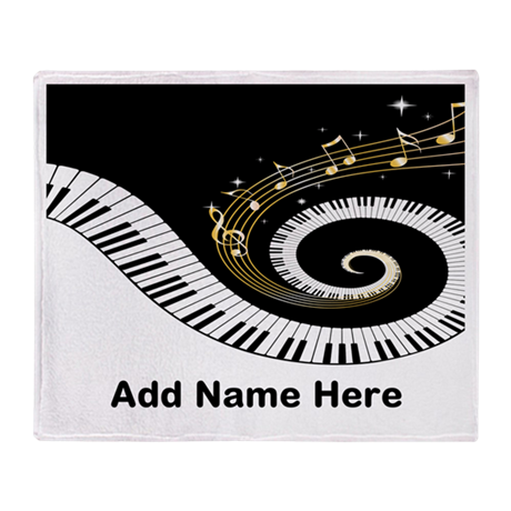 personalized mixed musical no Throw Blanket