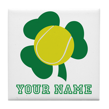 Personalized Irish Tennis Gift Tile Coaster