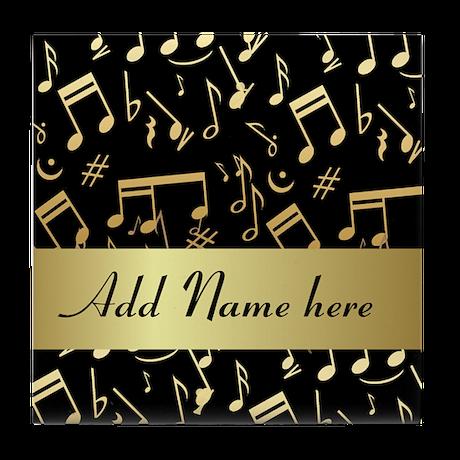 designer gold Musical notes Tile Coaster
