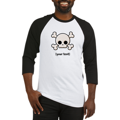 [Your text] Cute Skull Baseball Jersey