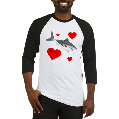 Personalized Shark Valentine Baseball Jersey
