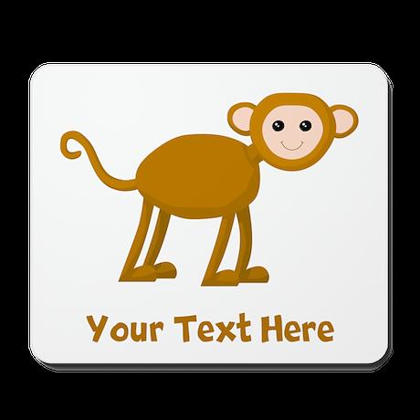 Monkey and Text. Mousepad