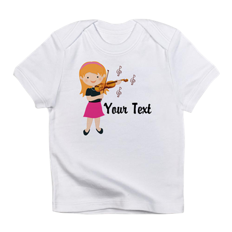 Personalized Violin Girl Infant T-Shirt