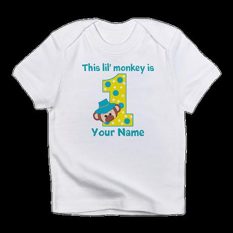 1st Birthday Monkey Boy Infant T-Shirt