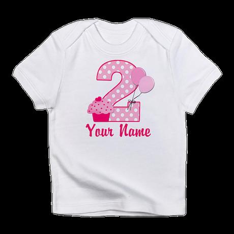 2nd Birthday Cupcake Infant T-Shirt