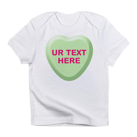 Lime Candy Heart Personalized Infant T-Shirt