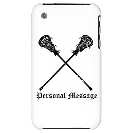 Personalized Lacrosse Sticks iPhone 3G Hard Case